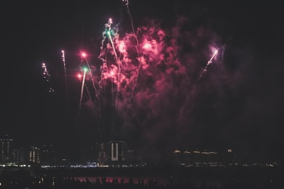 firework display during nighttime eid zoom background