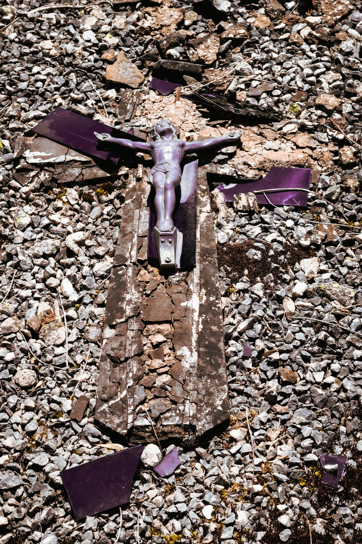 grey crucifix