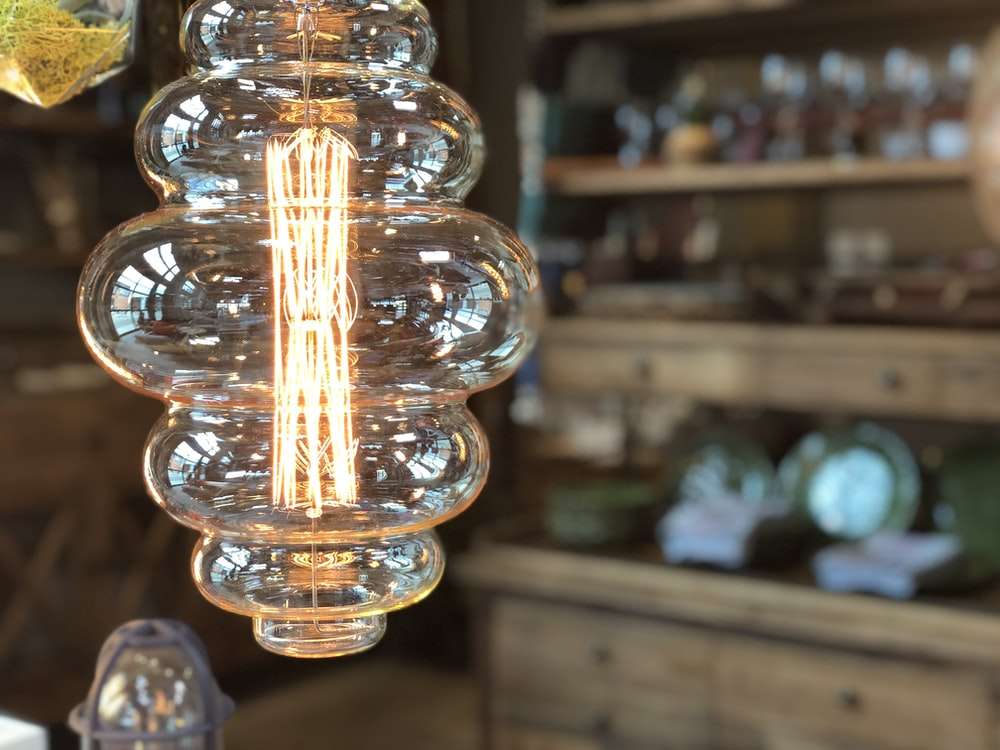 clear glass pendant lamp