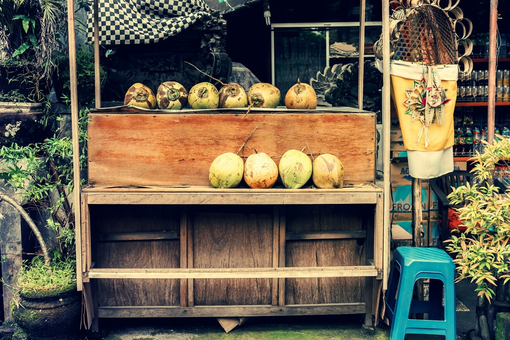 coconut fruit on stall