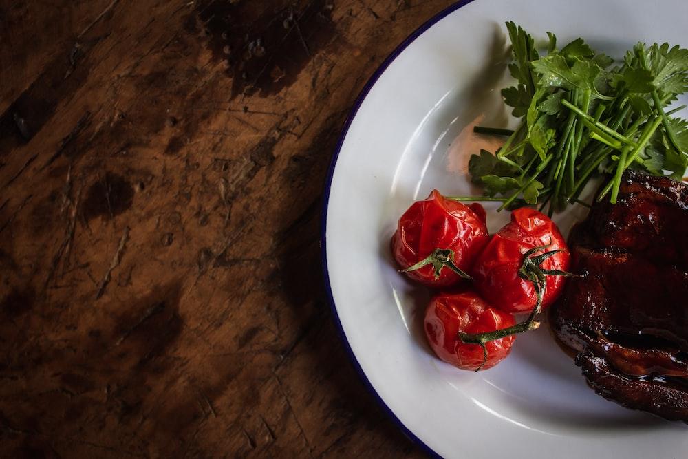 plate of vegetables salad
