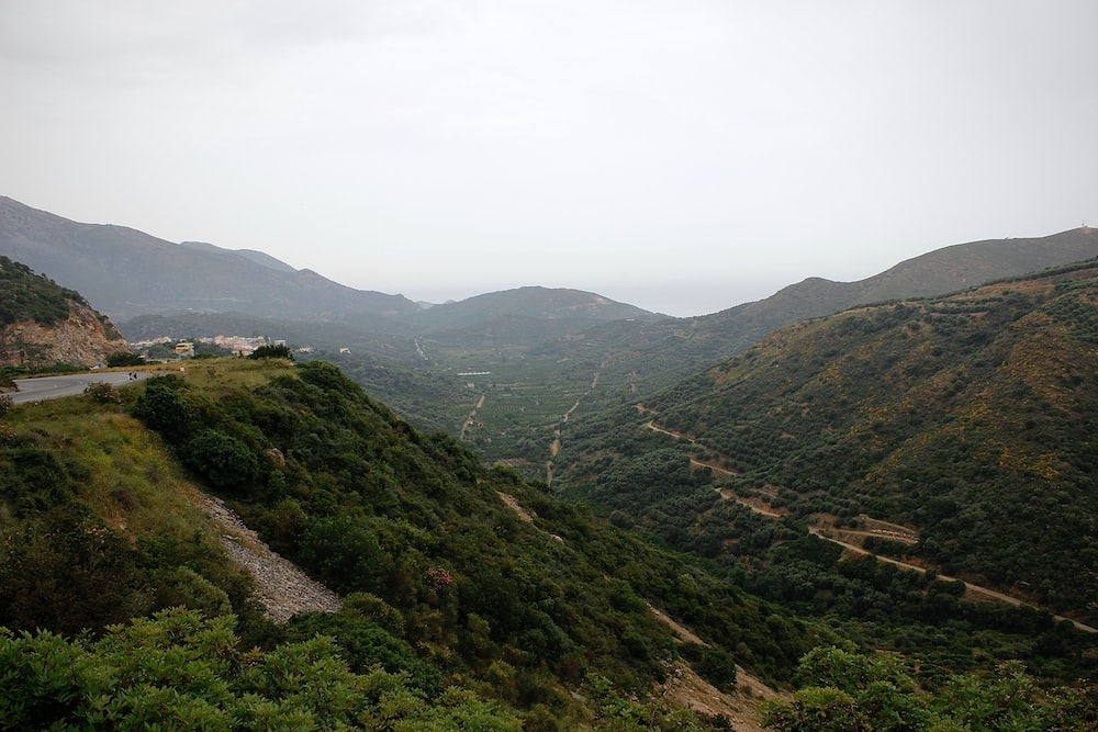 wide-angle photography of mountain range during daytime