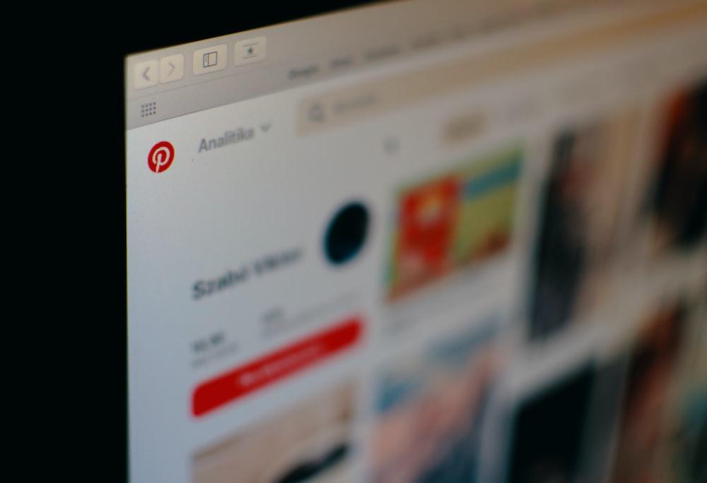 monitor viewing Pinterest