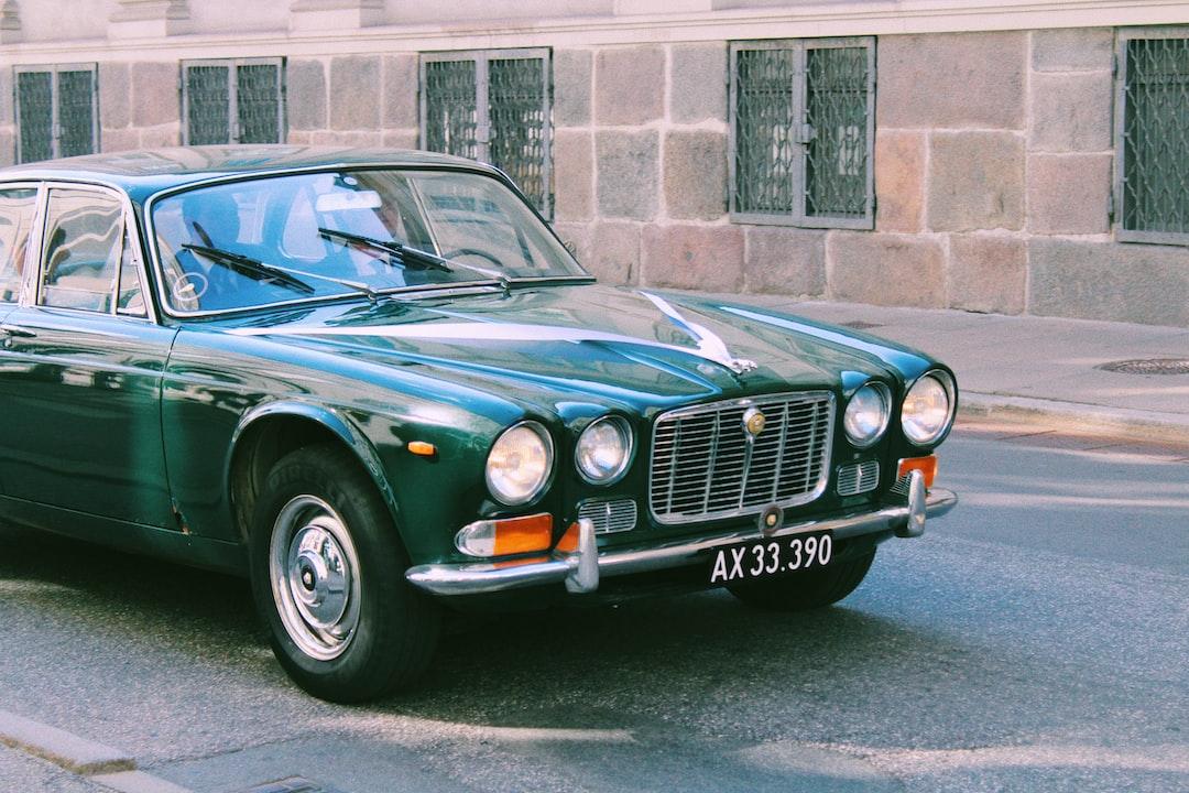 vintage jaguar on the streets of copenhagen, denmark