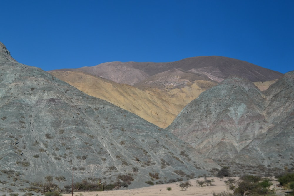 gray mountains under blue sky