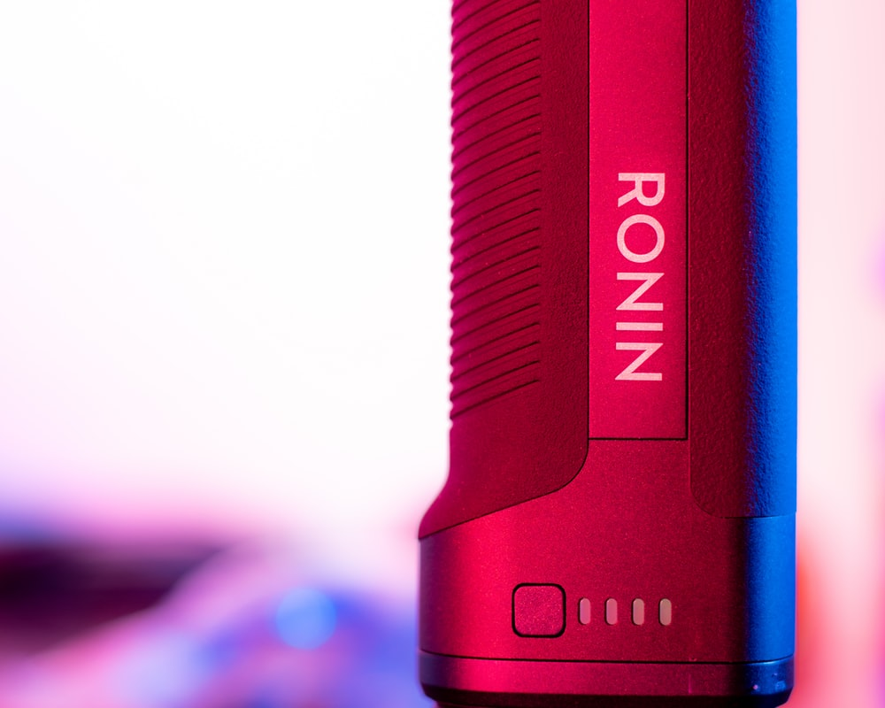 red and white Ronin Bluetooth speaker
