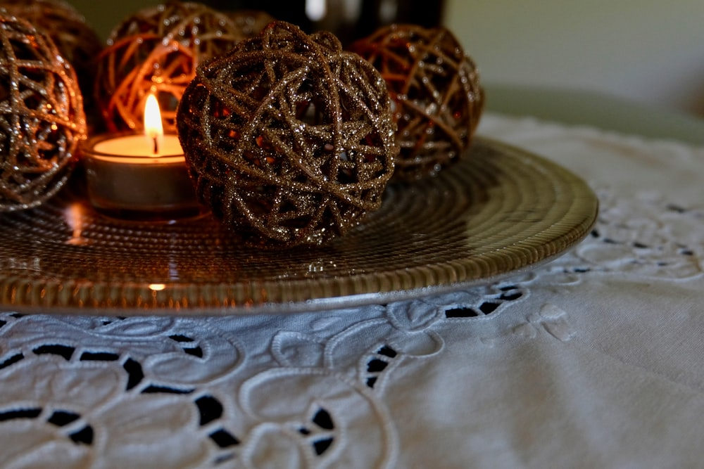 selective focus photography of brown table decors