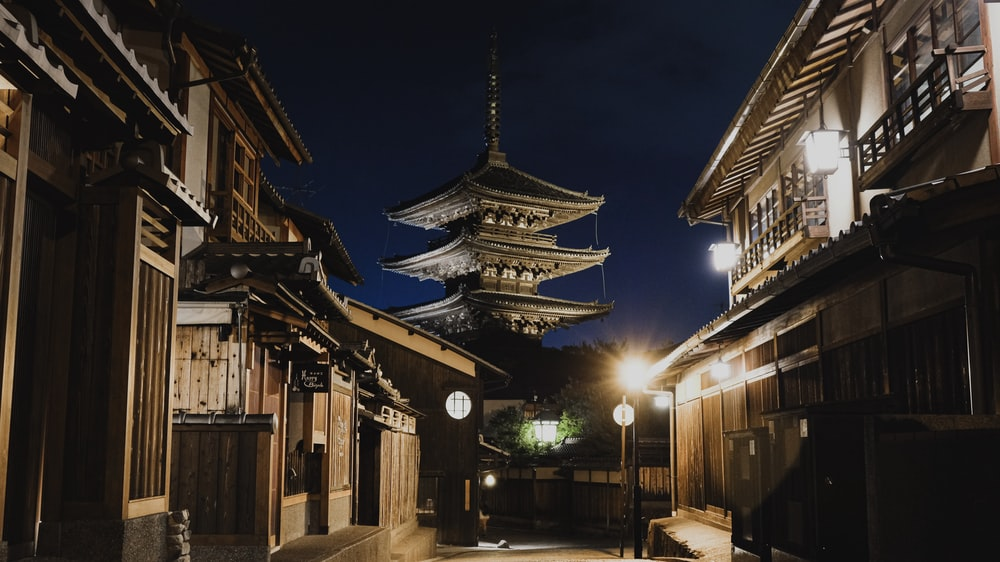 buildings during night