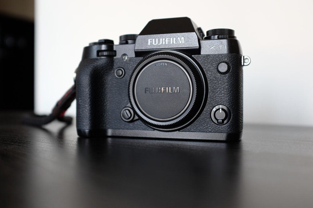 black Fujifilm camera