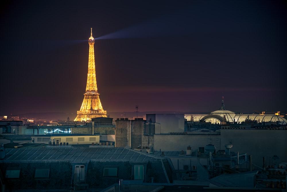 powered-on Eiffel Tower, Paris