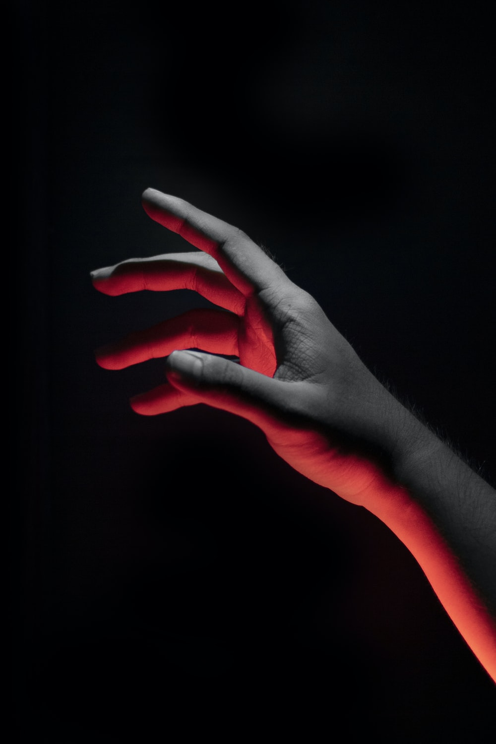 human hand reaching out