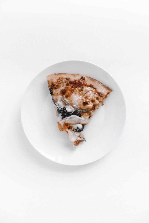 sliced pizza on plate