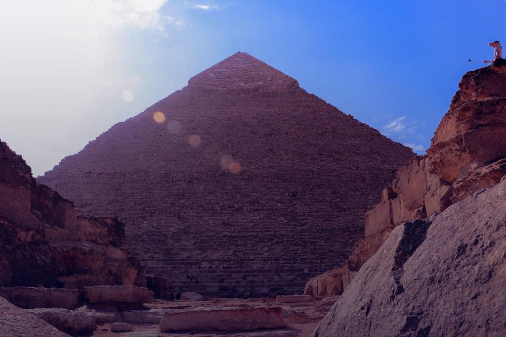 brown pyramid