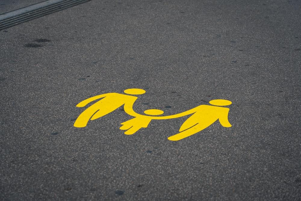 yellow road print