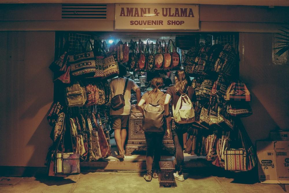 three person in Amani & Ulama store