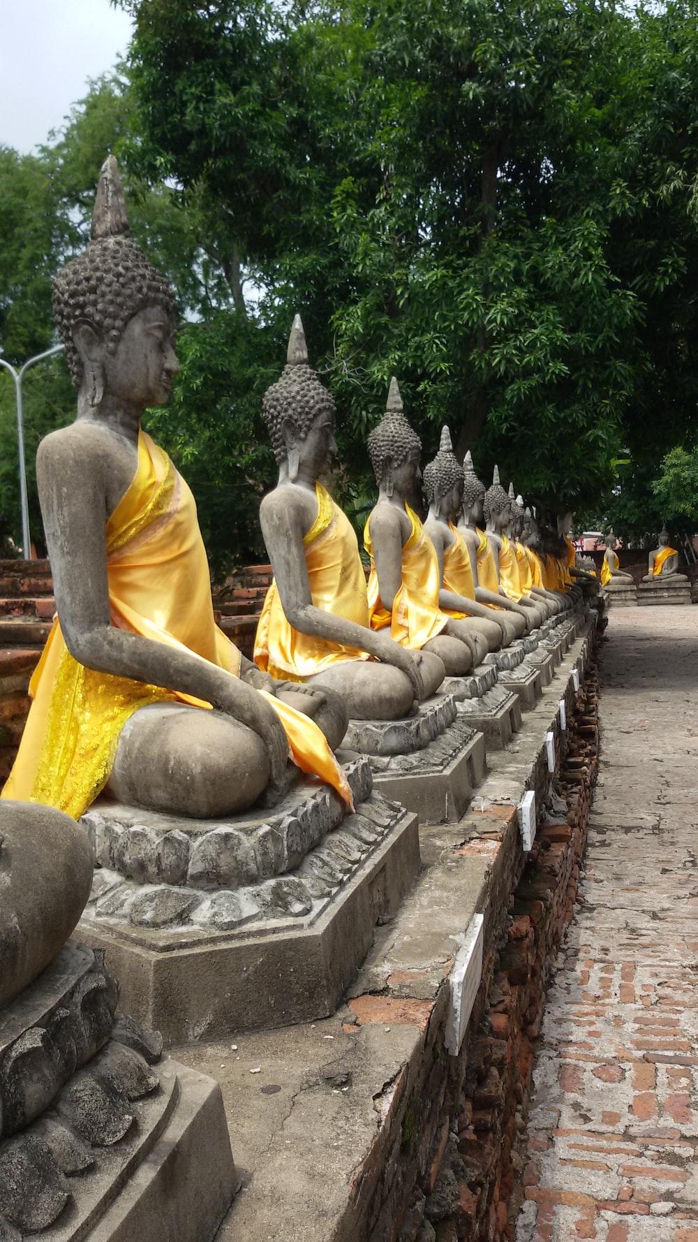 Gautama Buddha staues