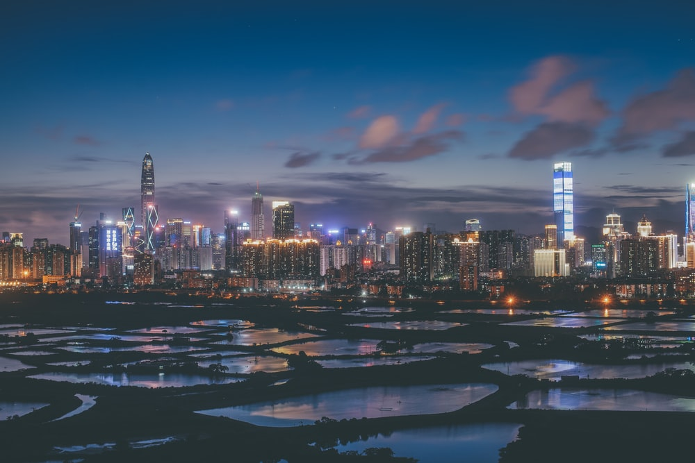 panoramic photo of buildings