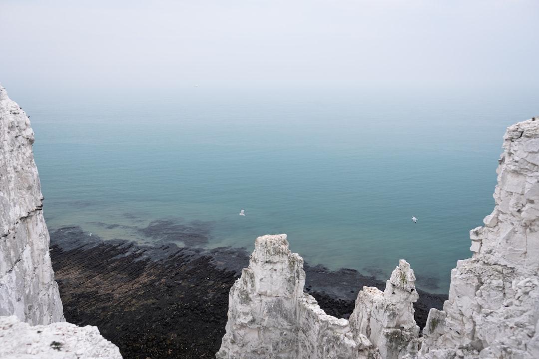 Standing on the precipice.