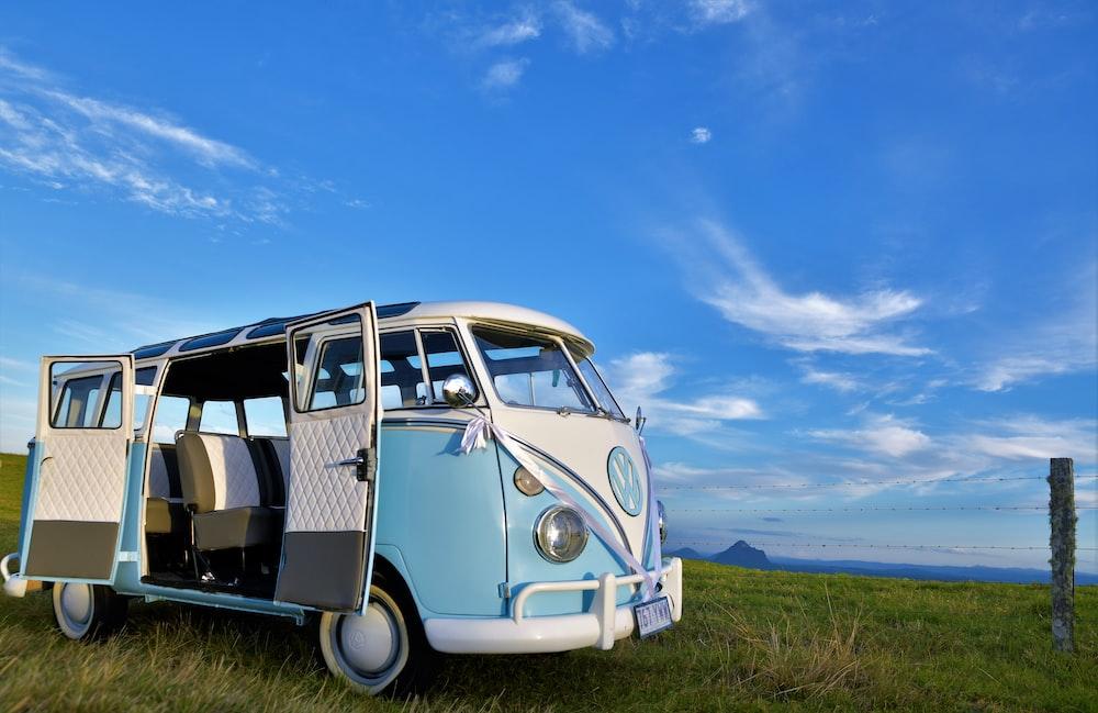 blue Volkswagen T1