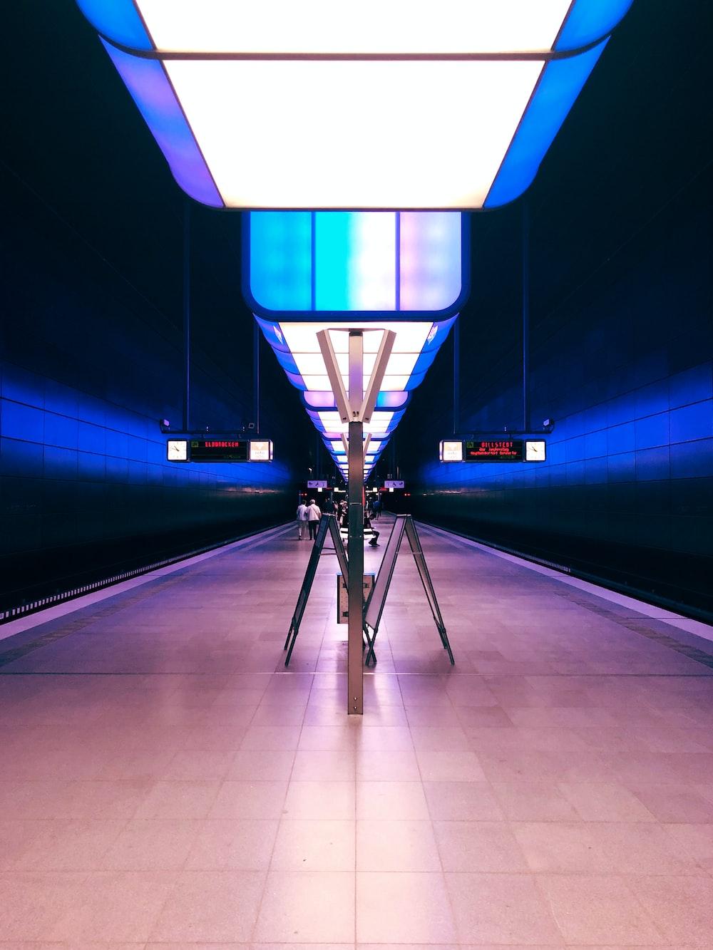 blue lighted room
