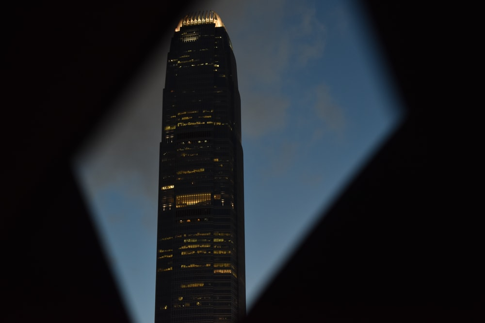 lighted building during nighttime