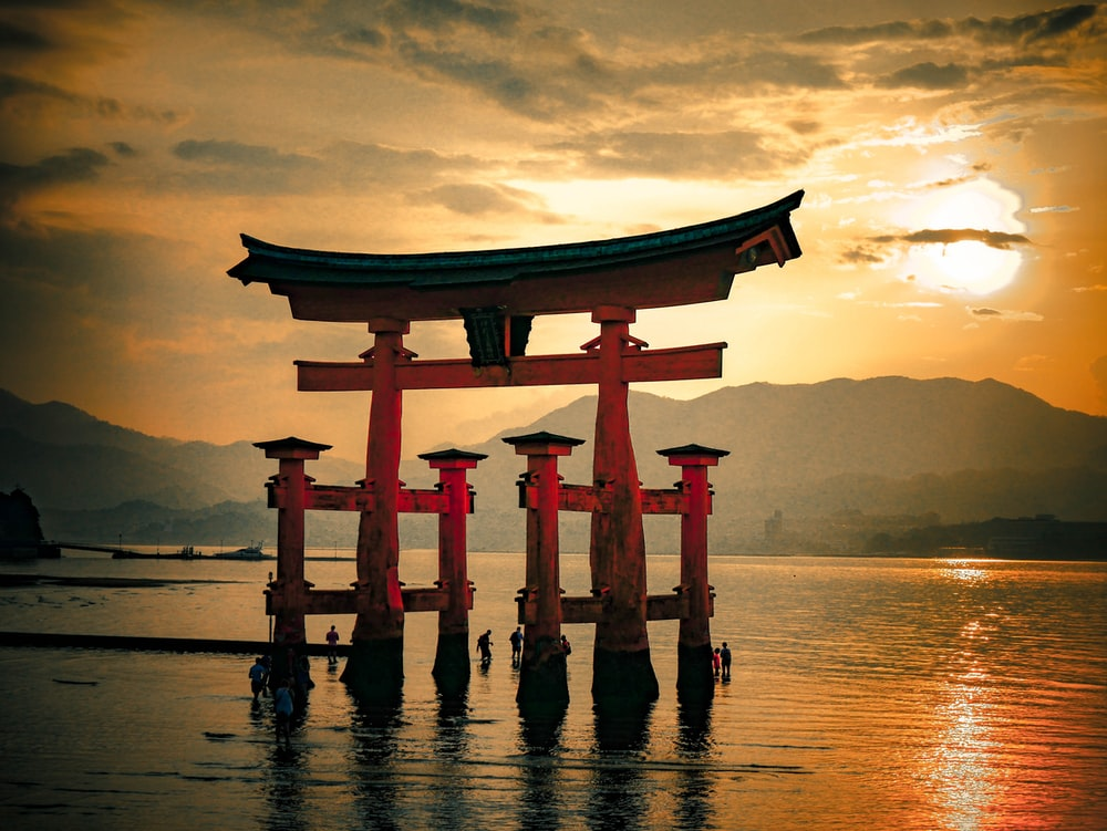 red Itsukushima Torii
