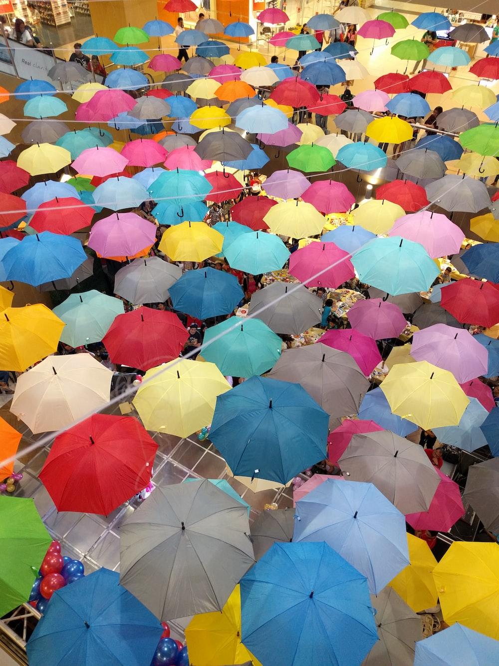 hanged umbrellas