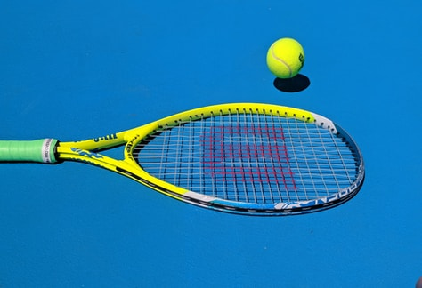 yellow Wilson tennis racket