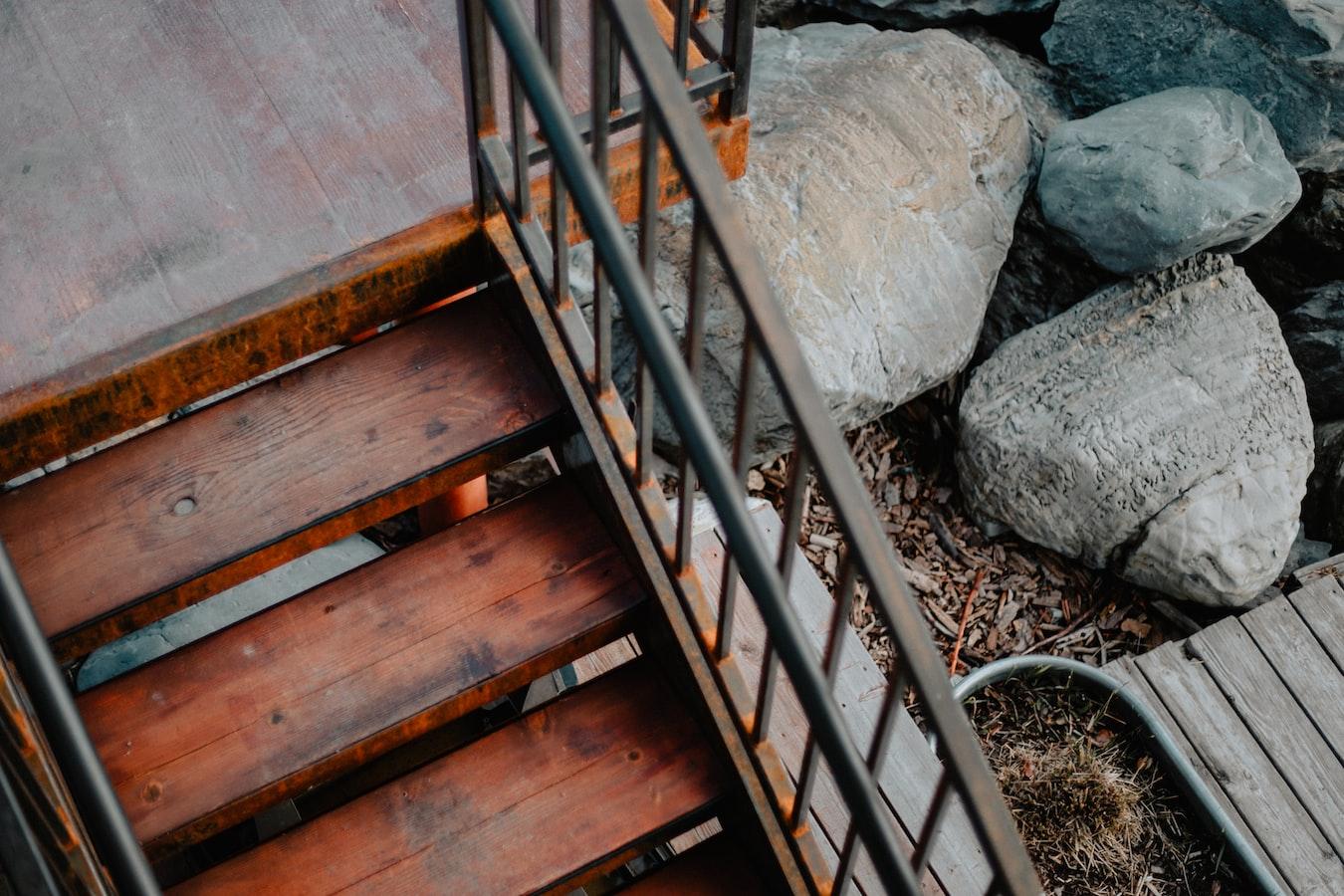 stairs in Flathead Lake, Montana