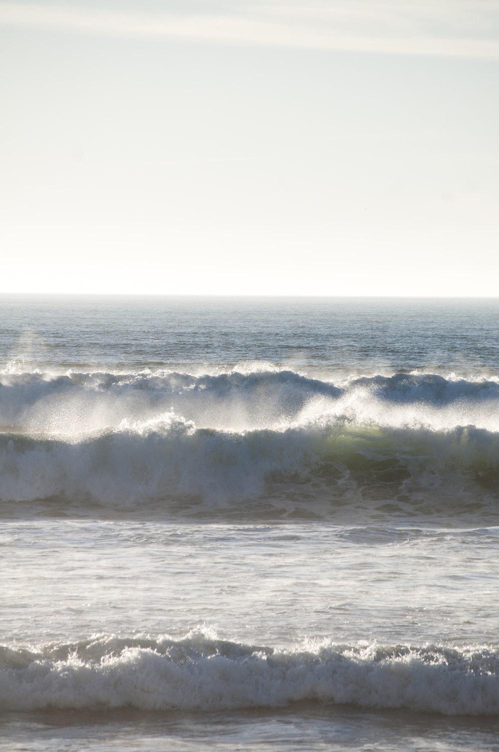 sea across horizon photo