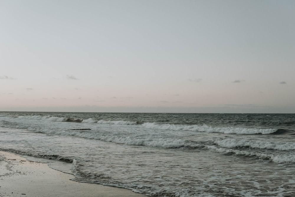 ocean waves seashore