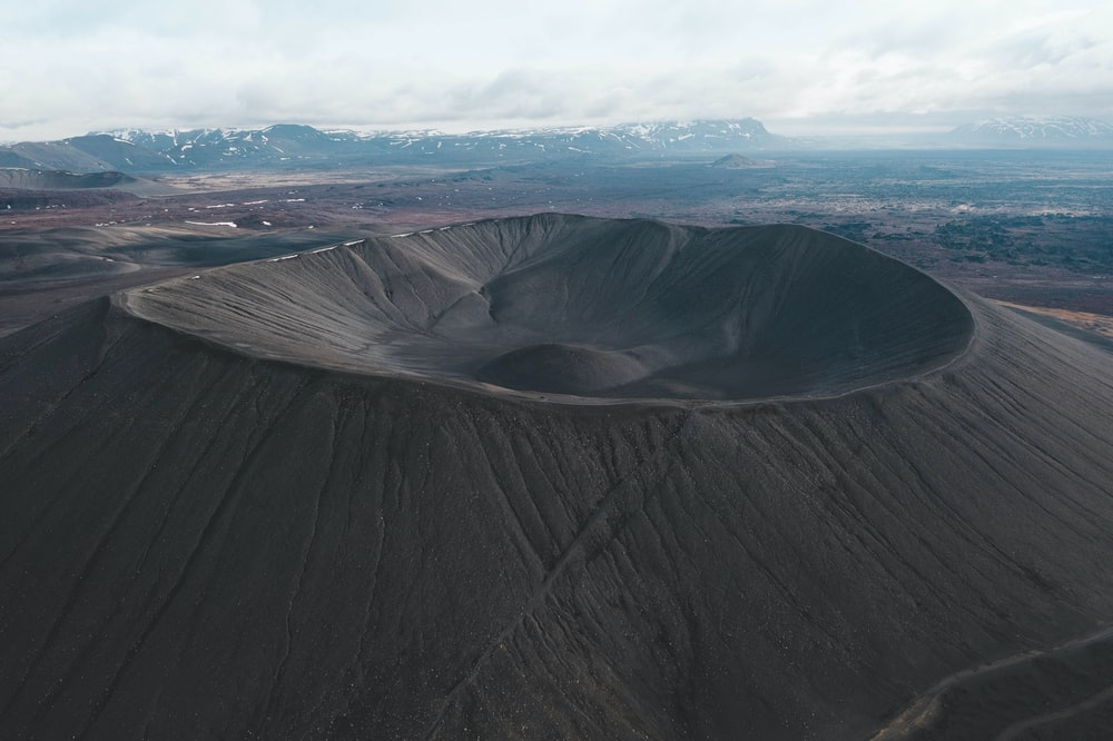 landscape photography of gray volcano