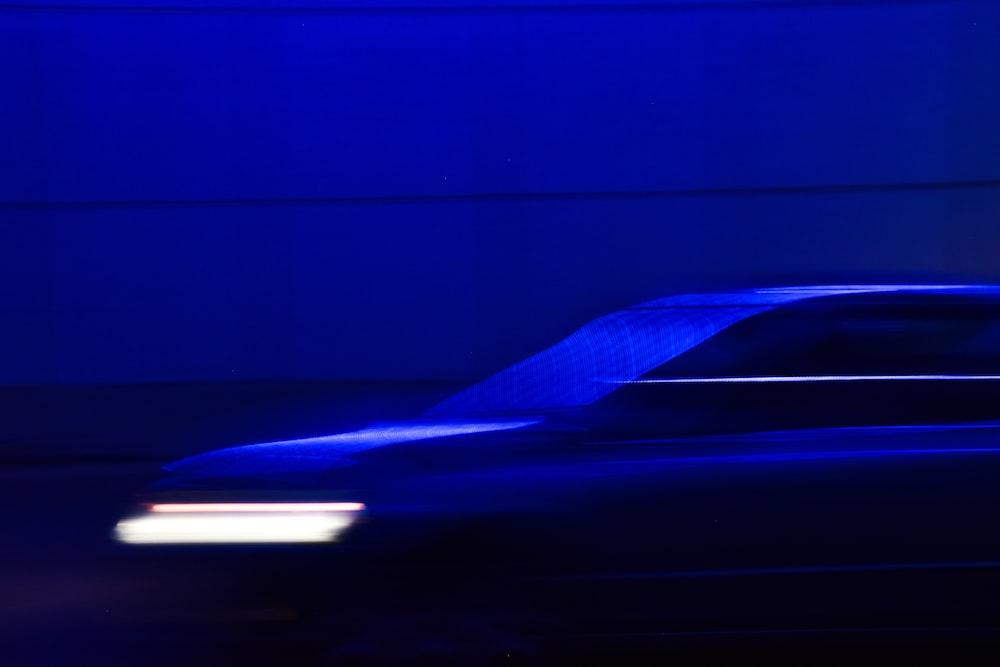 blue car blur