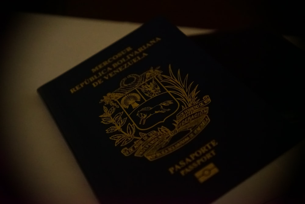 Venezuela Passport on white surface