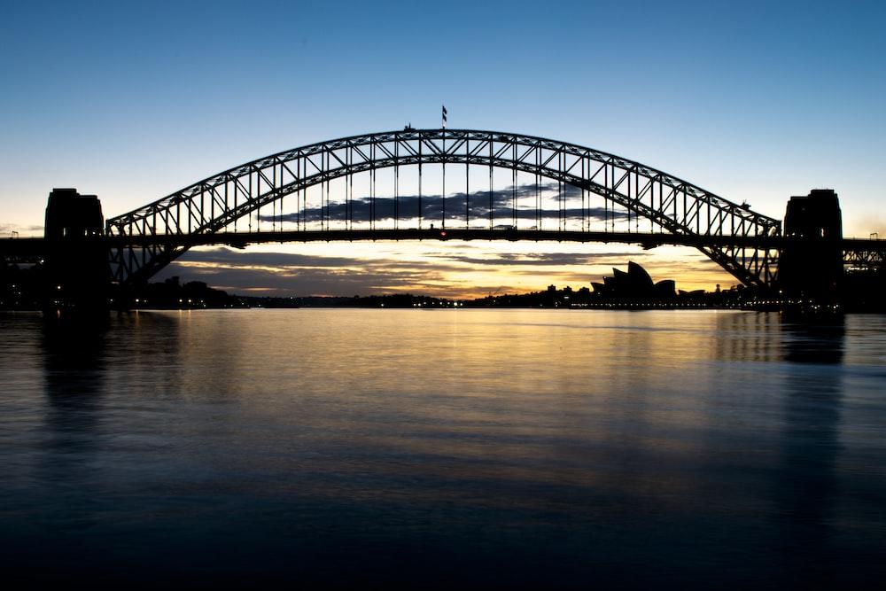 view of bridge during golden hour