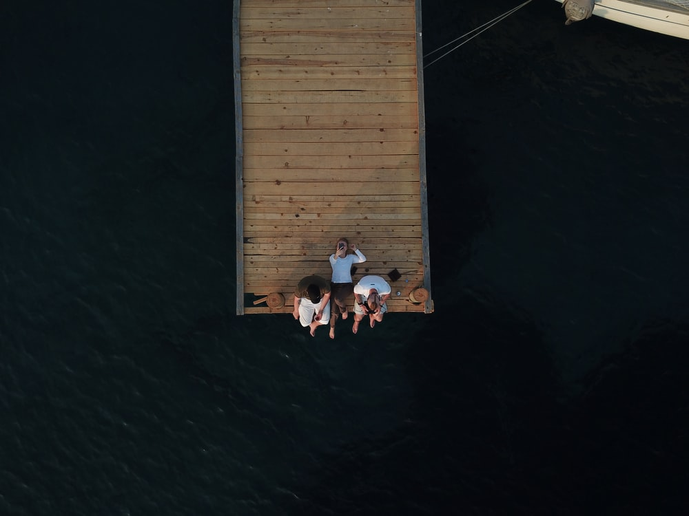 people on dock