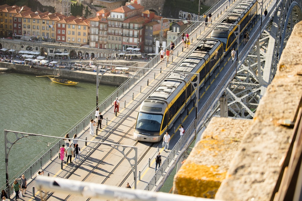 gray train during daytime