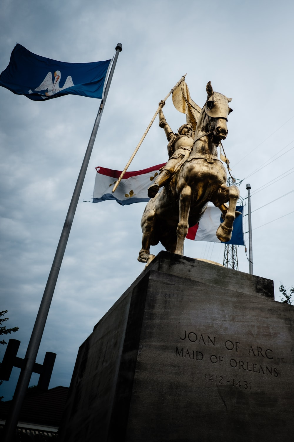 Joan of Arc Maid of Orleans statue