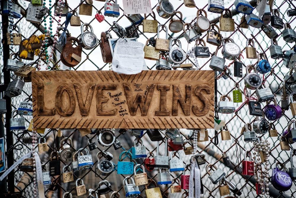 love wins signage