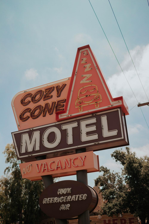 Cozy Cone Motel road sign