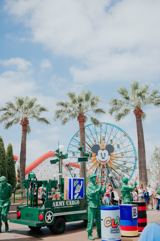 Ferris Wheel and car amusement