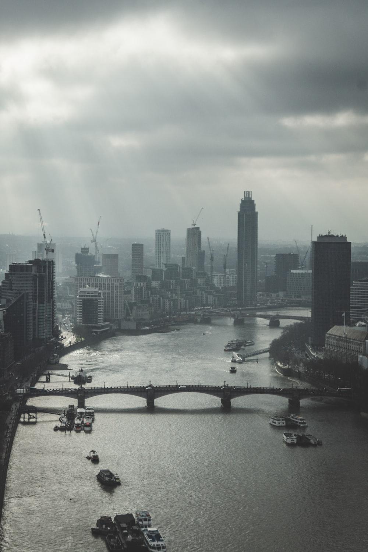 aerial photo high-rise building