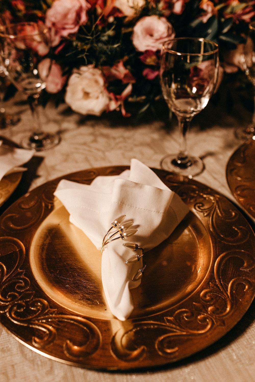 white tissue paper on dish