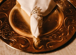white tissue paper on dish