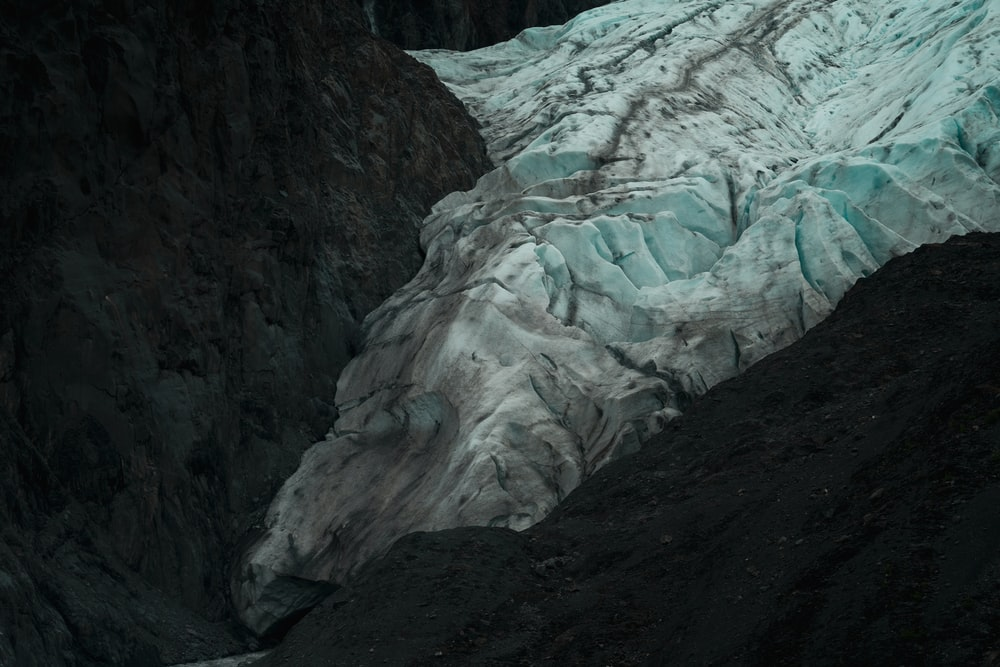 white and gray rock formation