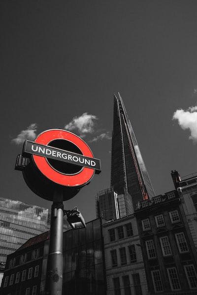 red and black Underground signage