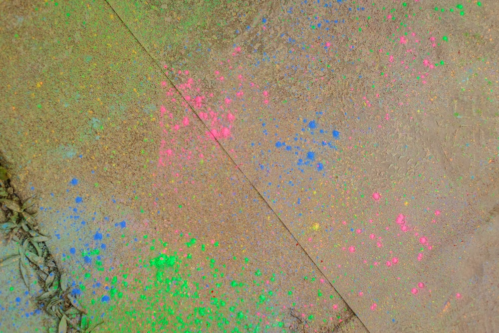 multicolored paint splatter