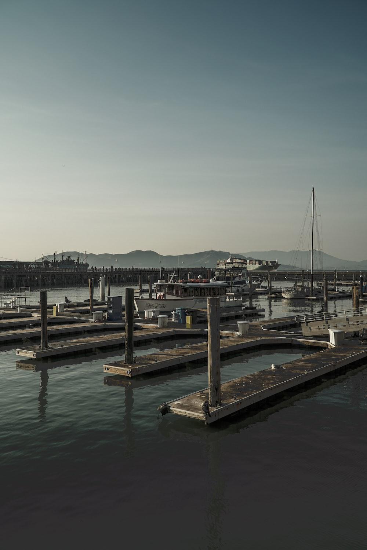 gray metal dock