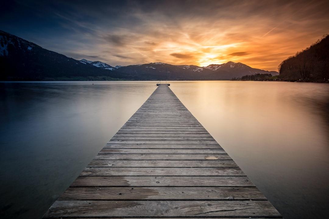 Evening at Lake Wolfgangsee, Austria.