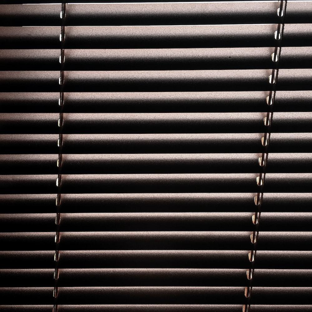 gray vinyl blinds